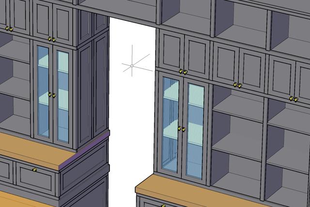 3d ontwerp tekening maatwerk kast