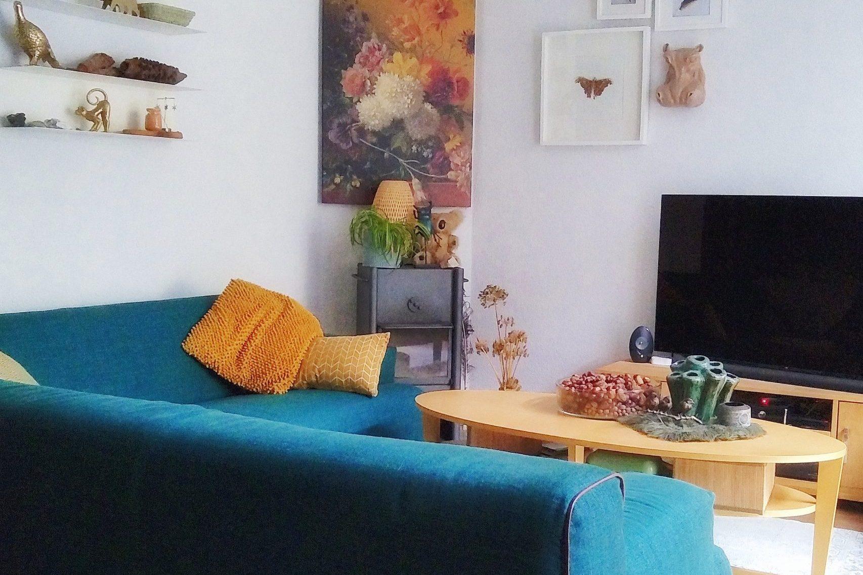 Binnenkijken: kleurrijke en natuurlijke woonkamer particulier woonhuis nuenen nieuw interieur design