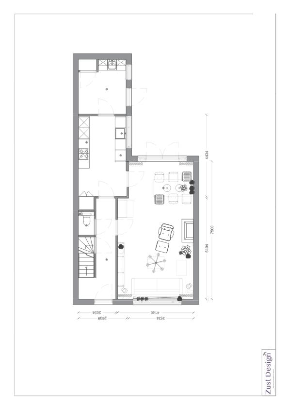 interieuradvies plattegrond indeling begane grond